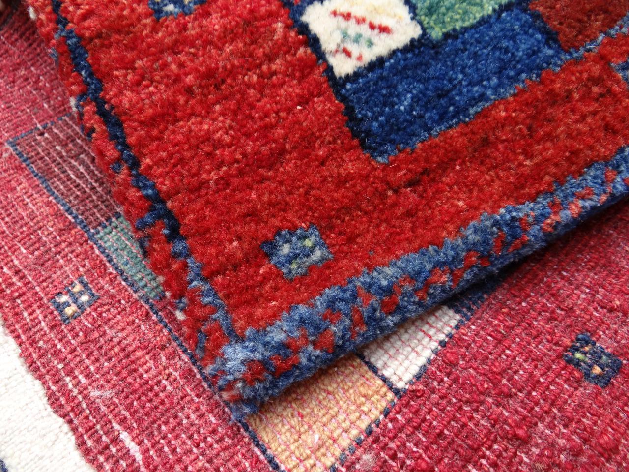Gabbeh etnische tapijten n 2368 40x40cm - Etnische pouf ...