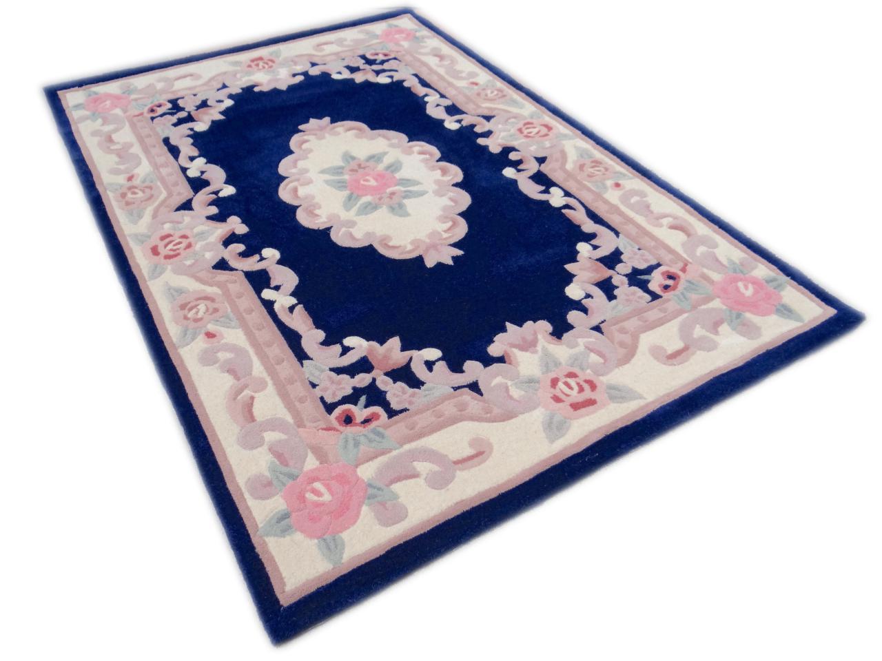 aubusson bleu tapis chinois n 2389 183x122cm. Black Bedroom Furniture Sets. Home Design Ideas
