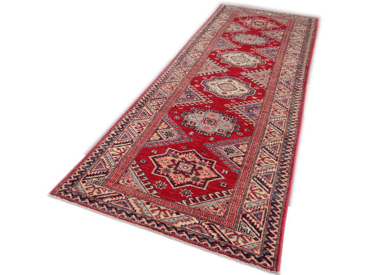 ghazni fin tapis ghazni kazak n 2457 222x80cm. Black Bedroom Furniture Sets. Home Design Ideas