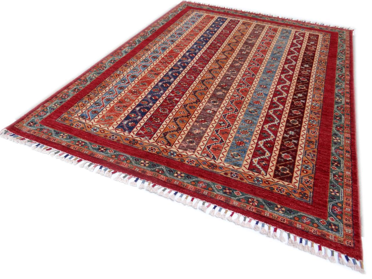 Ghaznavi etnische tapijten n 3171 206x151cm - Etnische pouf ...