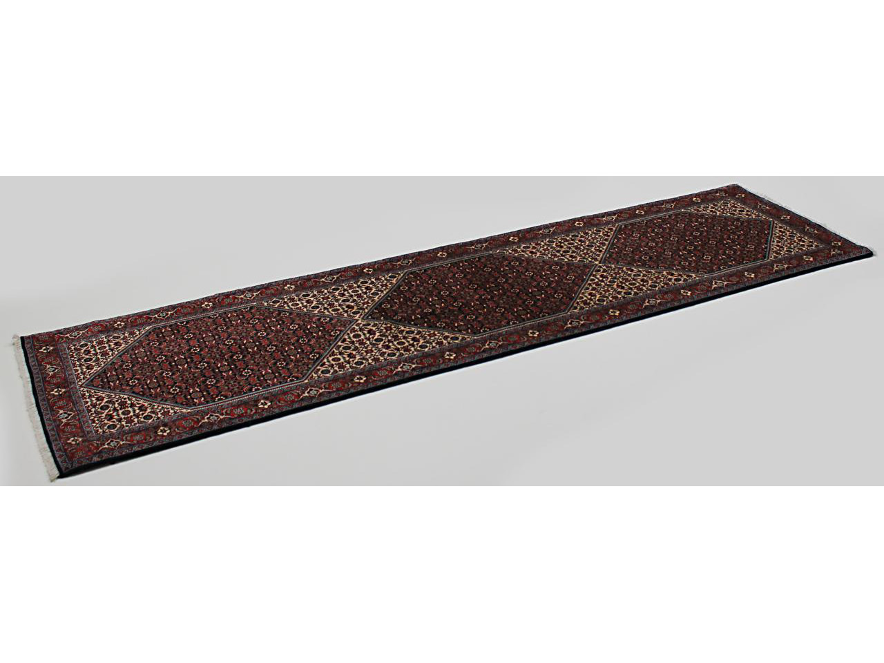 bidjar fin tapis persans n 3670 320x87cm. Black Bedroom Furniture Sets. Home Design Ideas