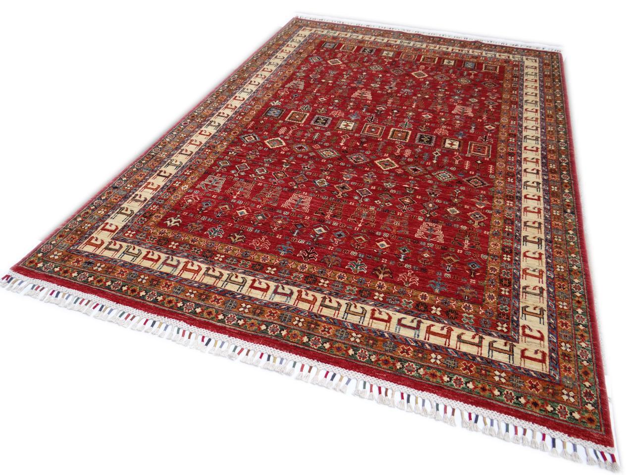 Ghaznavi etnische tapijten n 28655 259x174cm - Etnische pouf ...