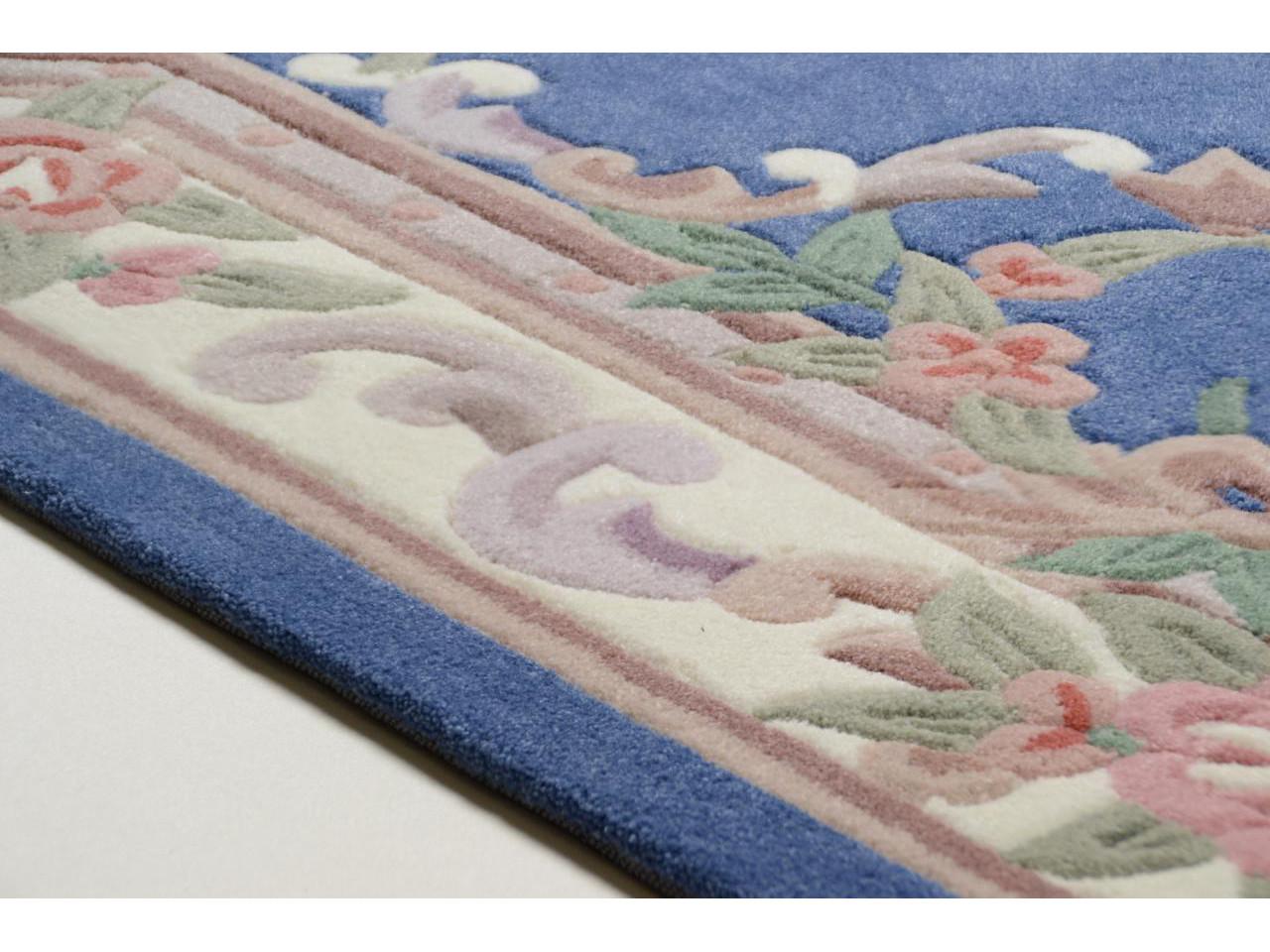 aubusson bleu tapis chinois n 32283 90x60cm. Black Bedroom Furniture Sets. Home Design Ideas