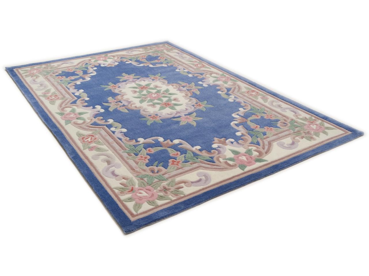 aubusson bleu tapis chinois n 32286 180x120cm. Black Bedroom Furniture Sets. Home Design Ideas