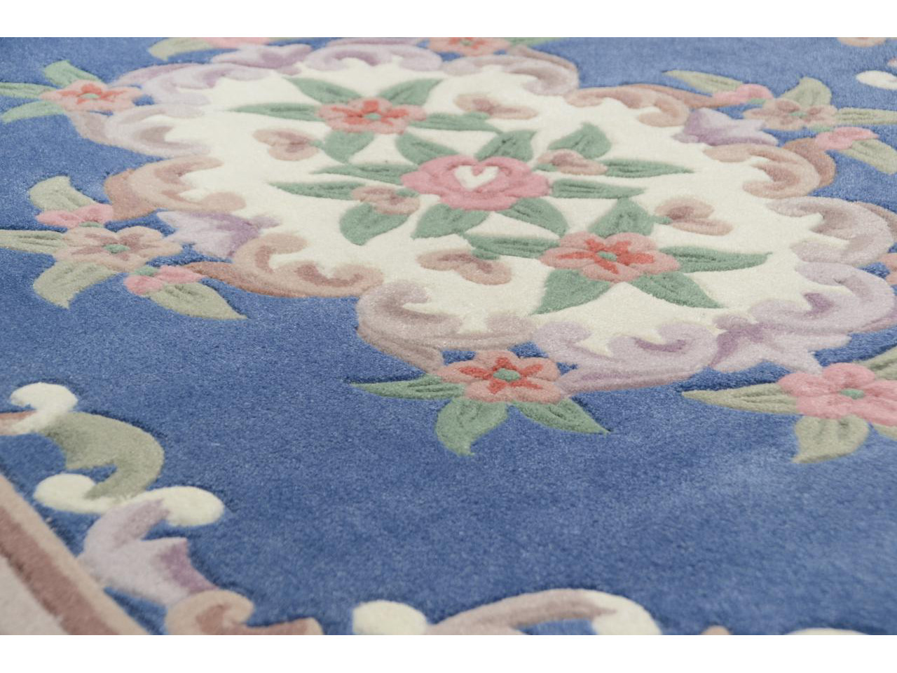 aubusson bleu tapis chinois n 32287 230x160cm. Black Bedroom Furniture Sets. Home Design Ideas