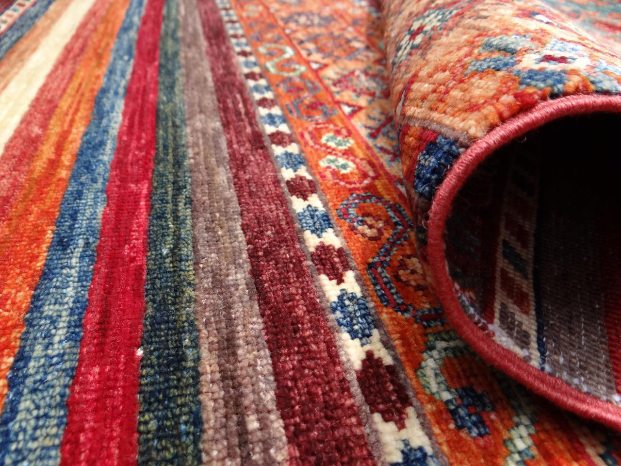 Ghaznavi etnische tapijten n 33806 296x211cm - Etnische pouf ...