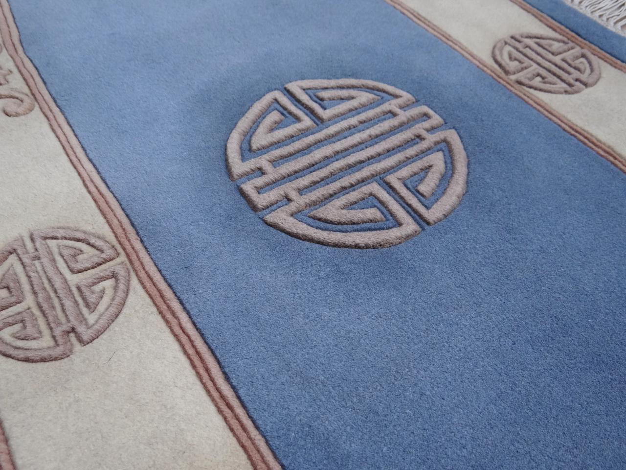 kangshi super bleu tapis chinois n 214 140x70cm. Black Bedroom Furniture Sets. Home Design Ideas