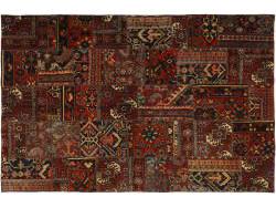 Vintage Persian Royal Patchwork Malayer 246x161