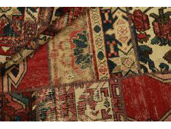 Vintage Persian Royal Patchwork Malayer 206x146