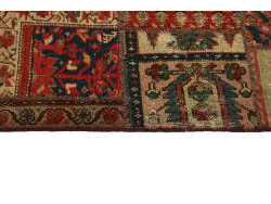 Vintage Persian Royal Patchwork Malayer 201x144