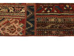 Vintage Persian Royal Patchwork Malayer 198x141
