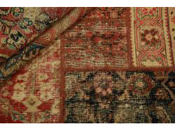 Vintage Persian Royal Patchwork Malayer 198x140
