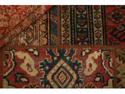 Vintage Persian Royal Patchwork Malayer 202x140