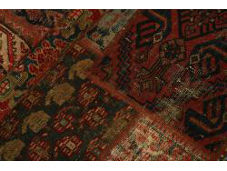 Vintage Persian Royal Patchwork Malayer 252x72