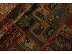 Vintage Persian Royal Patchwork Malayer 250x72