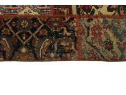 Vintage Persian Royal Patchwork Malayer 247x70