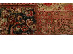 Vintage Persian Royal Patchwork Malayer 249x70