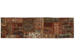 Vintage Persian Royal Patchwork Malayer 246x68