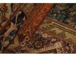 Vintage Persian Royal Patchwork Malayer 248x68