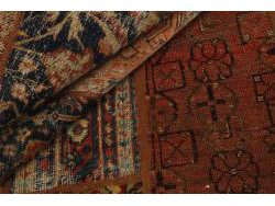 Vintage Persian Royal Patchwork Malayer 195x139