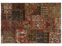 Vintage Persian Royal Patchwork Malayer 199x138