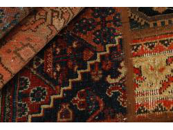 Vintage Persian Royal Patchwork Malayer 193x140