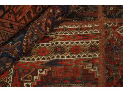 Vintage Persian Royal Patchwork Malayer 198x137