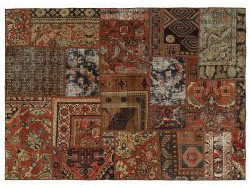 Vintage Persian Royal Patchwork Malayer 197x138
