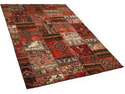 Vintage Persian Royal Patchwork Malayer 201x141