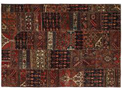 Vintage Persian Royal Patchwork Malayer 199x142
