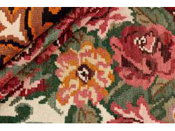 Kilim Floral Roses Old 290x201