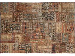 Vintage Persian Royal Patchwork Malayer 303x212
